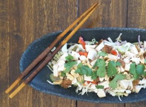 Low Carb Asian Slaw with Chicken