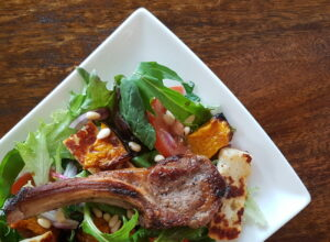 Lamb, Haloumi and Roasted Pumpkin salad