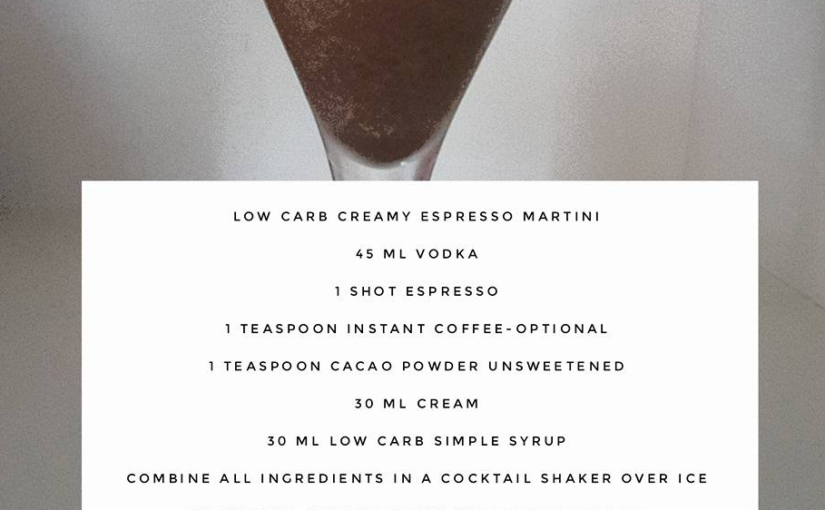 Low Carb Espresso Martini Cocktail Recipe