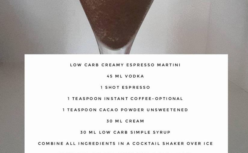 Low Carb Espresso Martini Cocktail Recipe