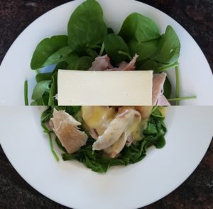 Instant Chicken, Spinach and Mushroom Food Bowl
