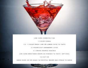 Low Carb Cosmopolitan Cocktail