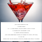 Low Carb Cosmopolitan Cocktail