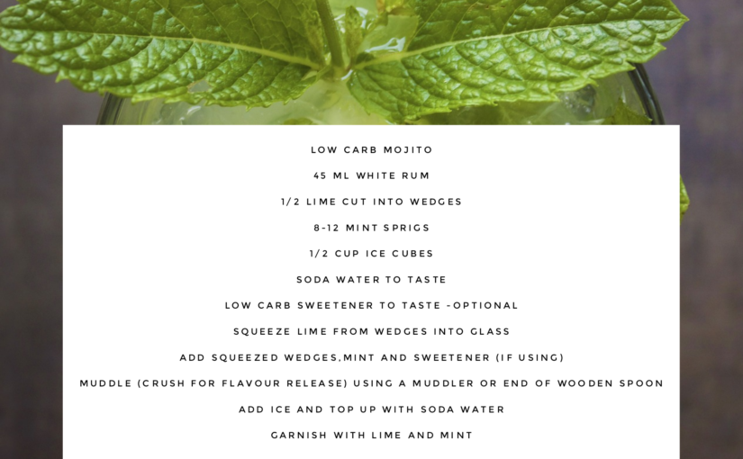 Low Carb Mojito Cocktail Recipe