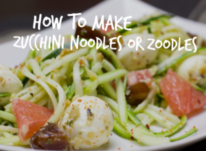 Cooking with Zucchini noodles or zoodles