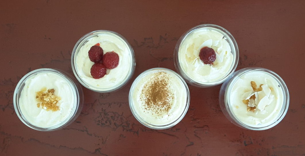 Low Carb Cheese Cake Pots