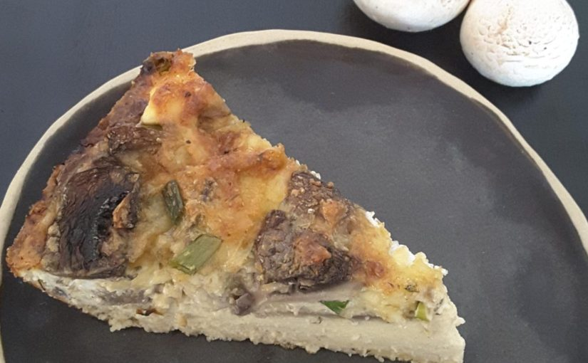 Low Carb Mushroom Goats Cheese Quiche