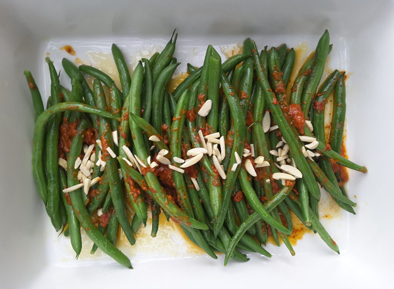 Oven Roasted Beans with Harissa