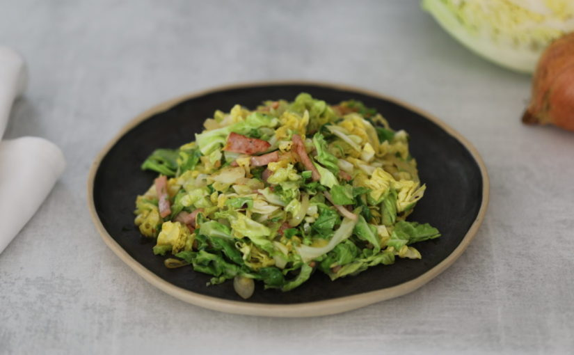 Low Carb Buttered Cabbage with Bacon