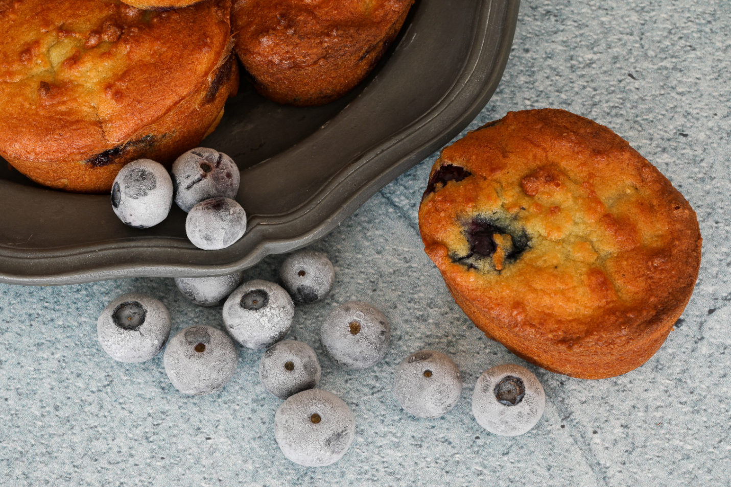 Sugar Free Blueberry Cream Cheese Muffins