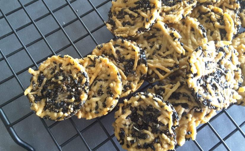 Sesame Chia Parmesan Crackers
