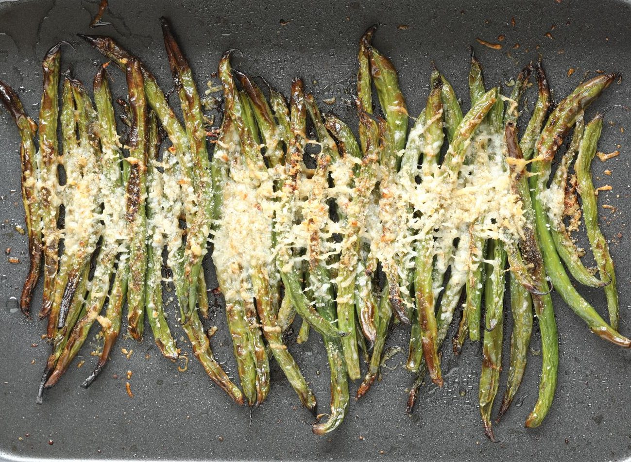 Oven Roasted Beans with Parmesan