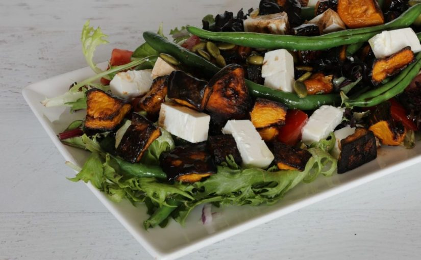 Pumpkin Bean Feta Salad