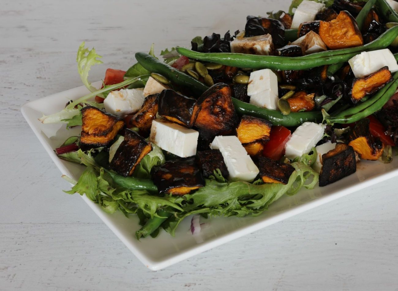 Pumpkin Bean and Feta Salad