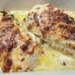 Low Carb Creamy Chicken Spinach Bake