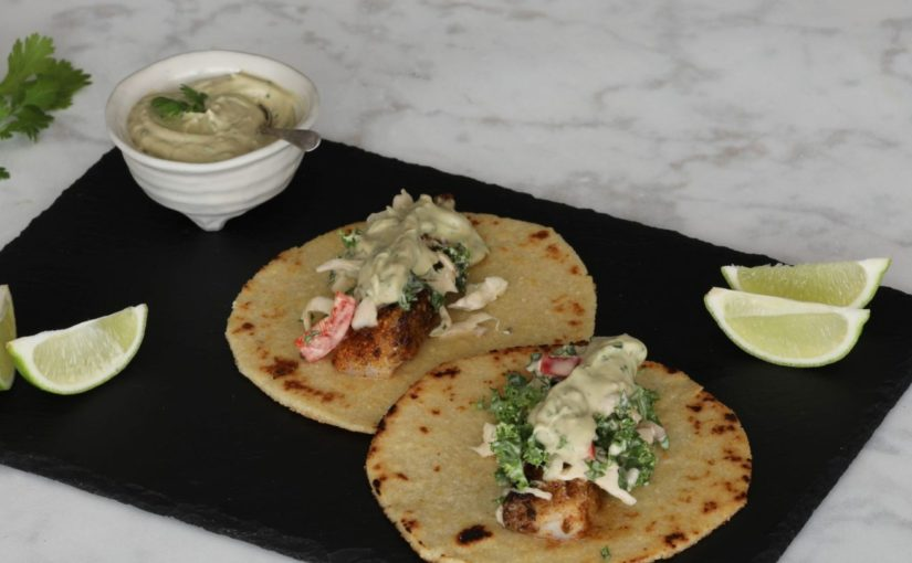Low Carb Blackened Fish Tacos