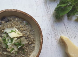 Low Carb Mushroom Sunflower Seed risotto