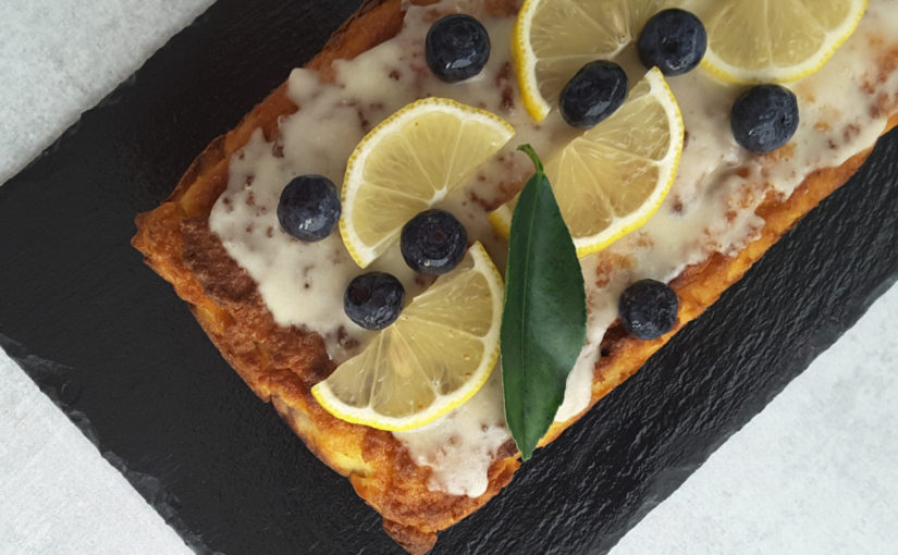 Sugar Free Blueberry Lemon Cake