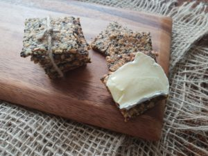Low Carb Microwave Crackers