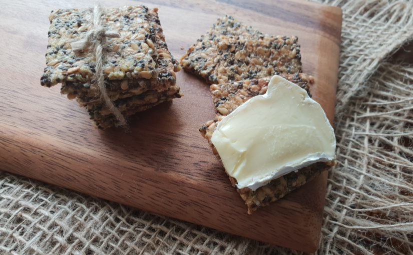Low Carb Microwave Seed Crackers
