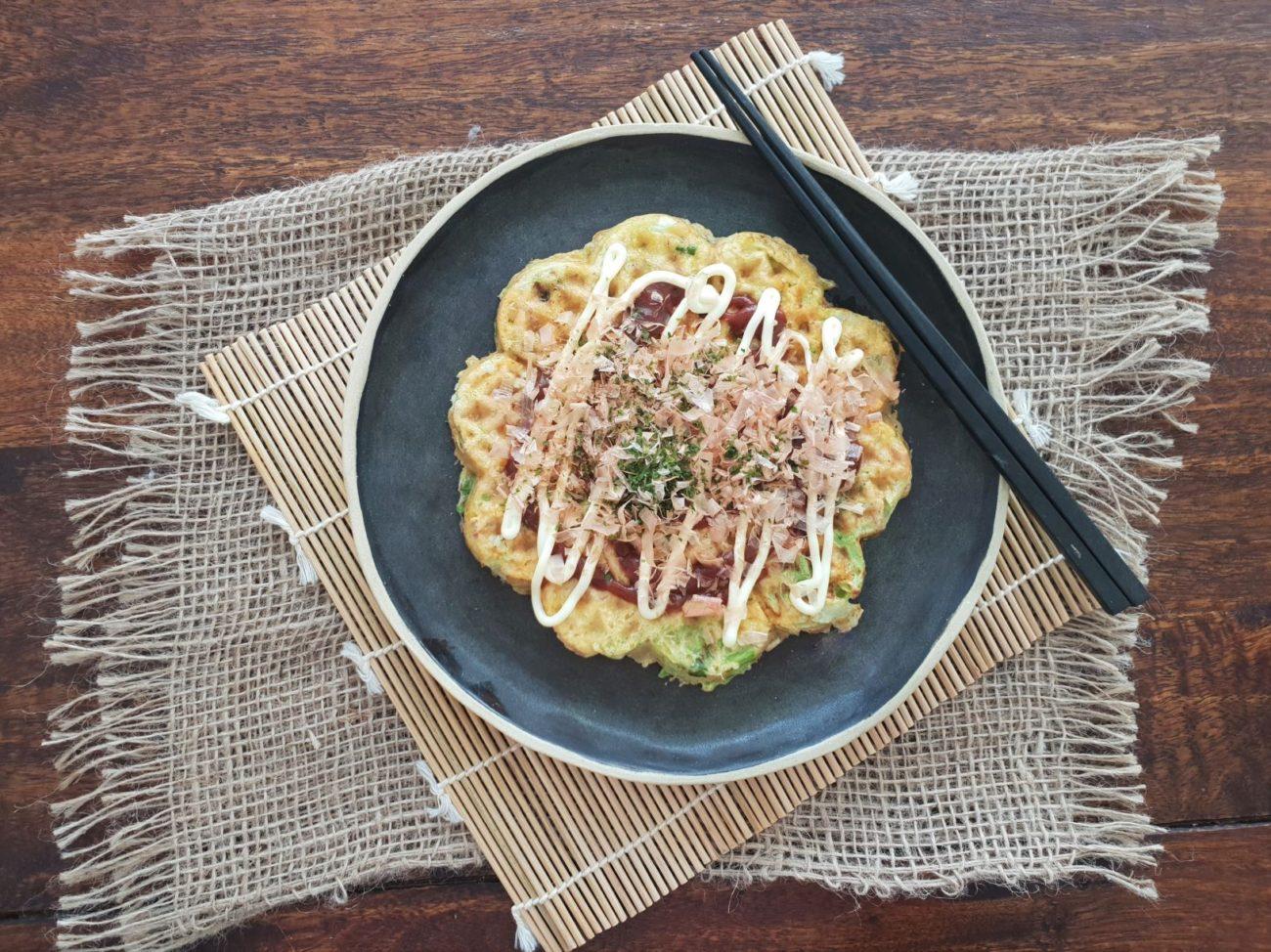 Keto Okonomiyaki Chaffle