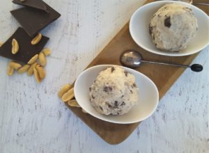 Low Carb Peanut Butter Choc Chip Ice Cream