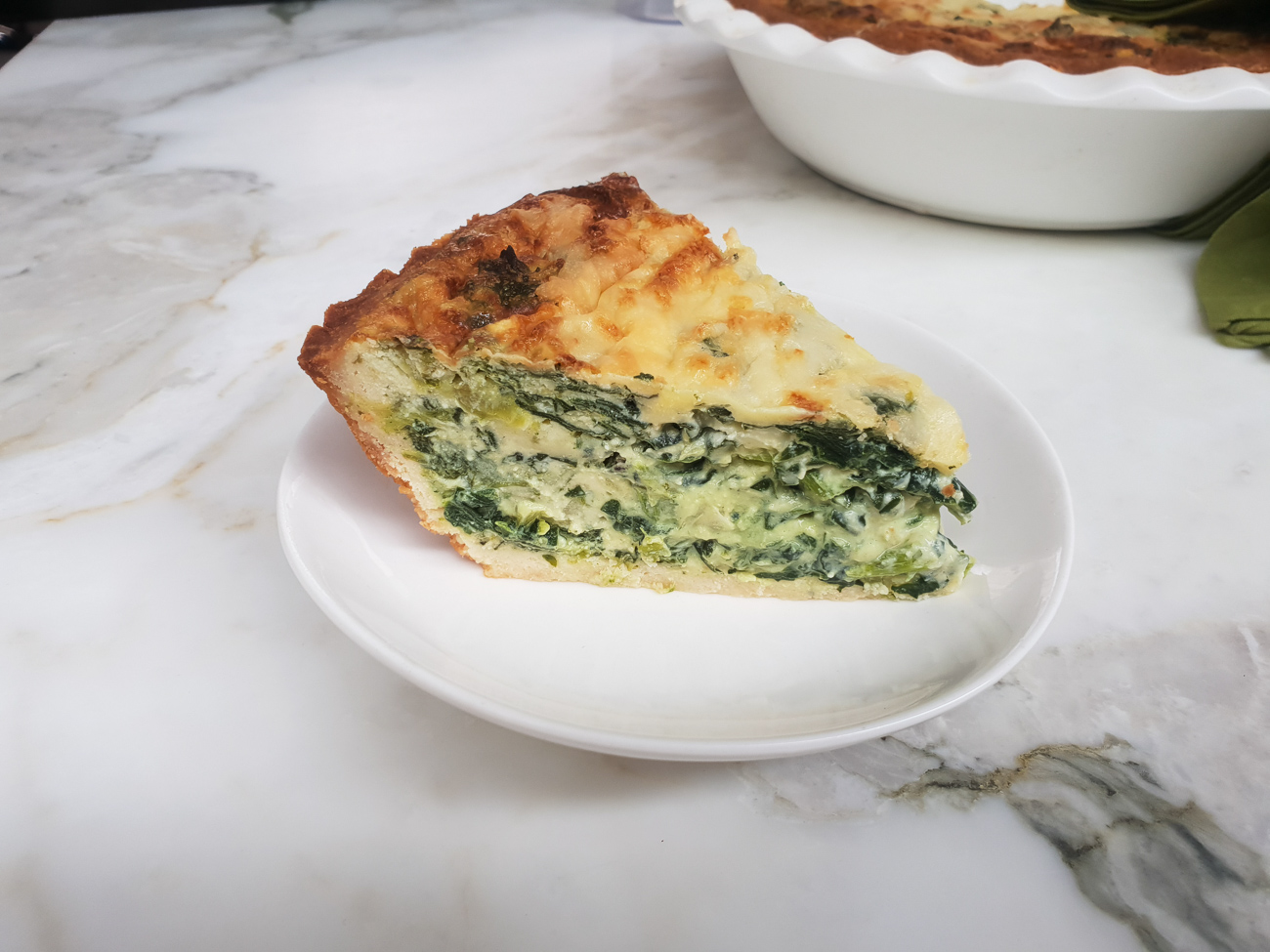 Crustless Spinach and Ricotta Quiche