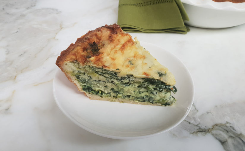 Spinach and Ricotta Crustless Quiche