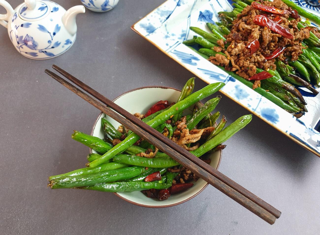 Gan Bian Si Ji Dou (Sichuan Green Beans)