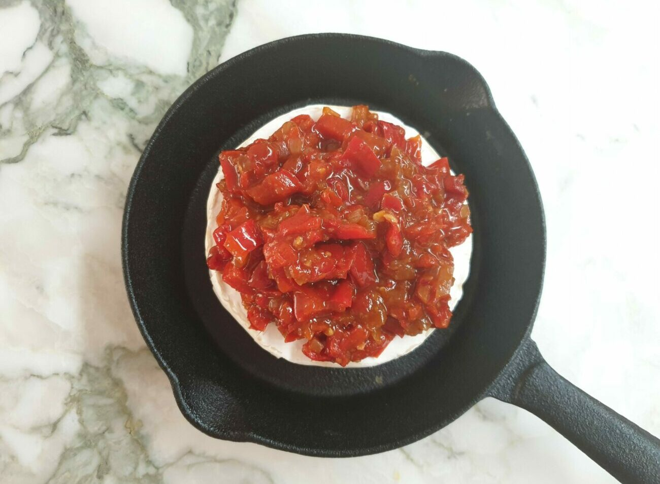 Baked Camembert with Red Pepper Relish