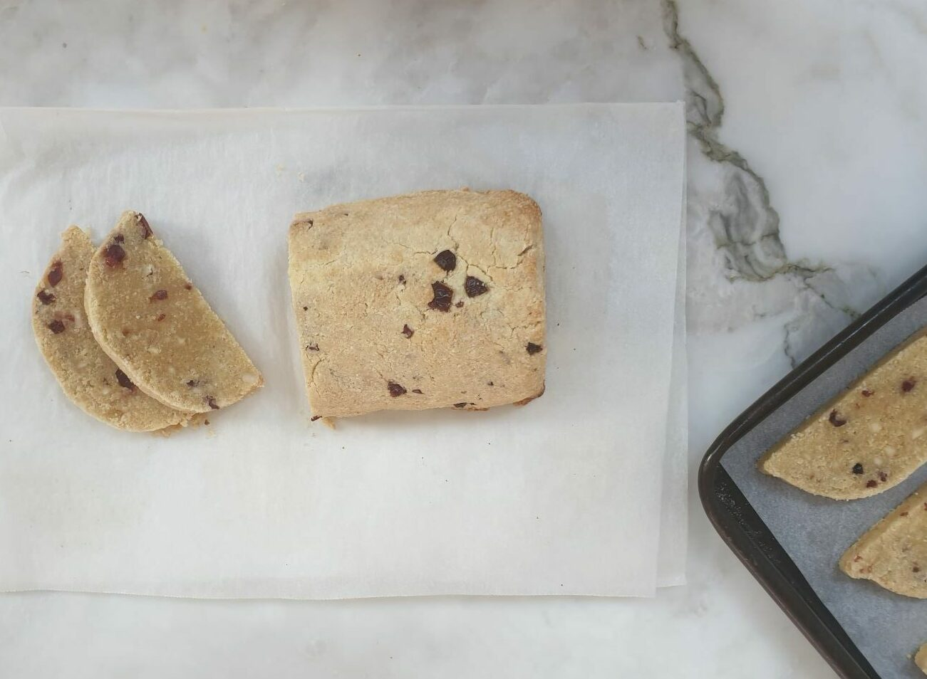 Low Carb Almond Cranberry Biscotti