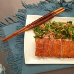 Crispy Pork Belly with Coriander Salad