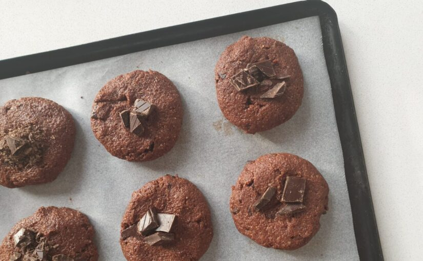 Keto Double Choc Chip Cookies