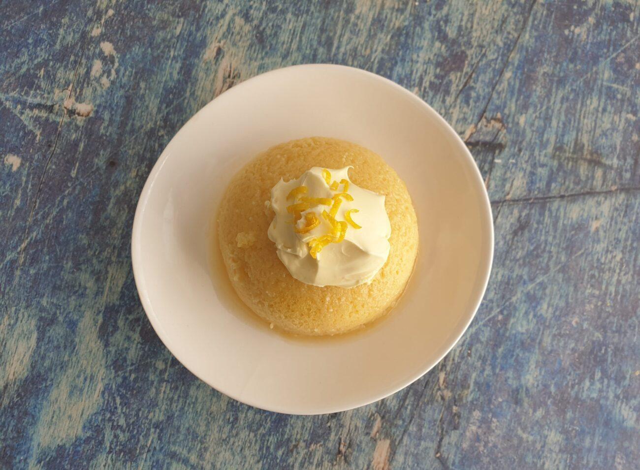 Keto Lemon Mug Cake Ketohh Sugar Free Low Carb Cake
