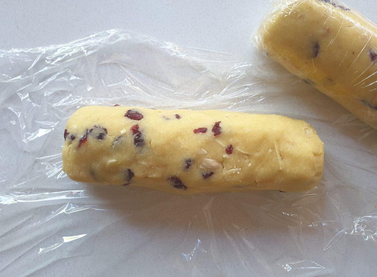 Keto Cranberry Almond Shortbread Cookies