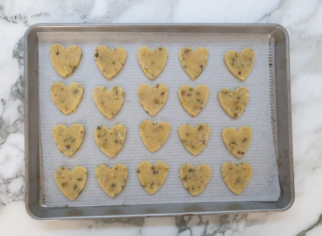 Keto Pistachio Lemon Cookies