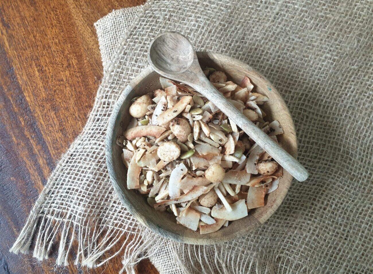 Healthy Macadamia Coconut Granola