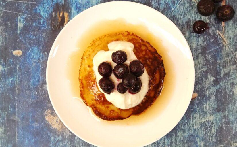 Keto Blueberry Ricotta Pancakes