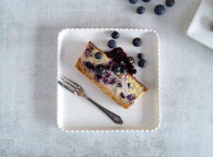 Keto Baked Blueberry Ricotta Cheesecake