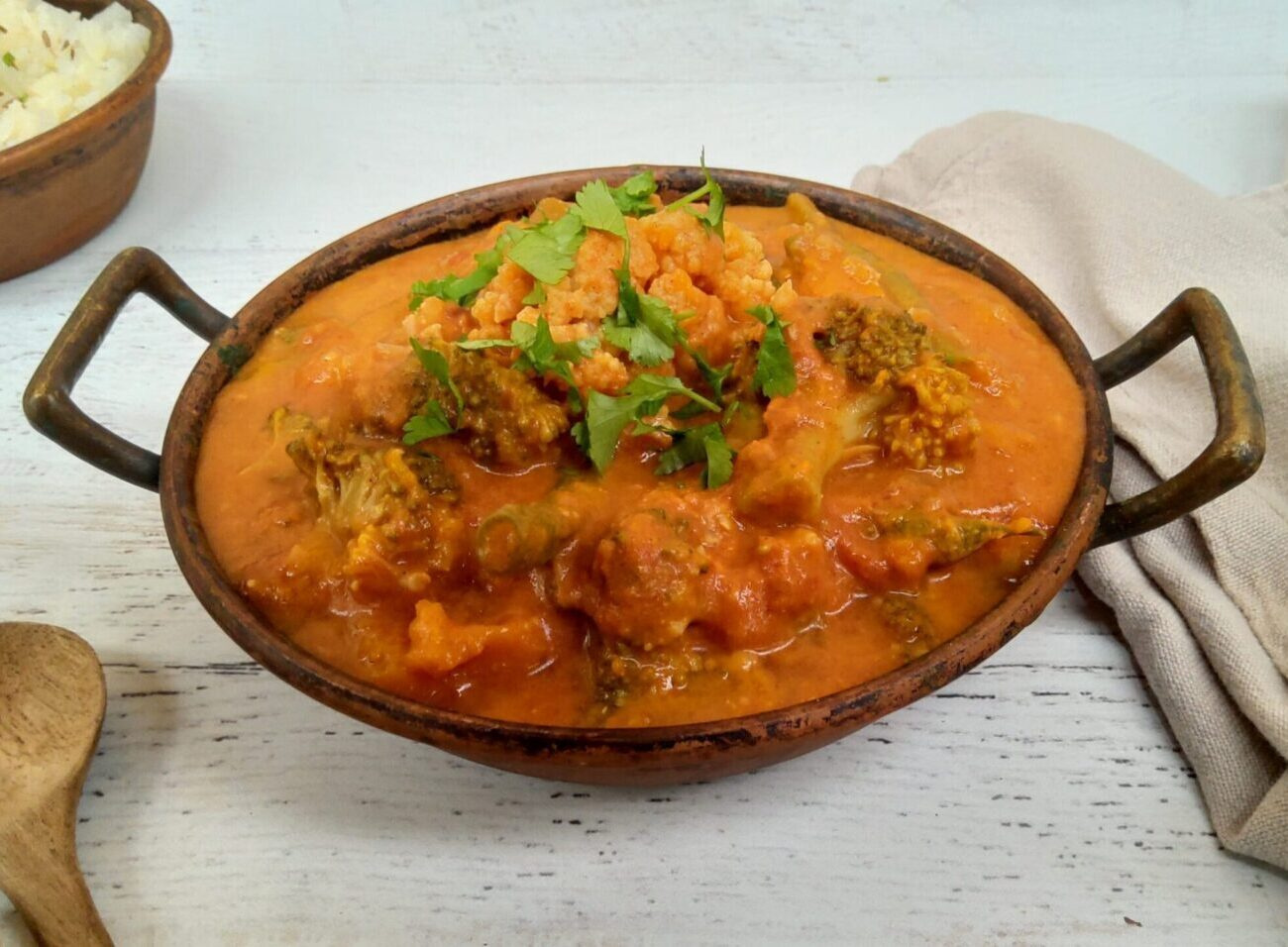 Bowl of vegetable curry